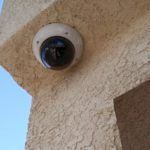 Stucco install of security camera